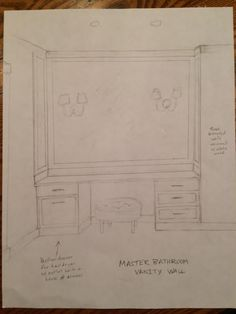 Master Bathroom makeup vanity area design   |  Ann Leddy Interior Design, Inc.