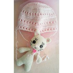 Touca newborn  amigurumi  #amigurumi #toucadecrochê #newborn #crochet #sobencomenda #curitiba #bebê #gatinho #menina by chiharu_amigurumi