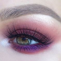 Purple-tinted cerise smoky eye | 19 Ways Pink Eyeshadow Can Look Badass AF