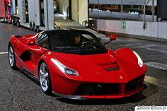LaFerrari taking on the road. The Ferrari of all Ferraris. Top of the food chain.