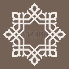 Jet rond - conception abstraite d'éléments circulaires ornementales Motifs Islamiques, Islamic Motifs, Islamic Art Pattern, Arabic Pattern, Pattern Art, Abstract Pattern, Geometric Logo, Geometric Designs, Art Deco Tattoo