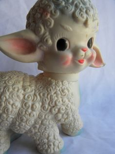 Lamb Squeaky Toy - my grandmother had this.  We used to hide it under her pillow so it would squeak when she lied down!