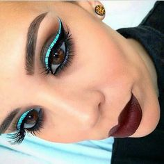 """""""I can't stop using this BLUE MILK liner ,unlimited possibility Close up From this look with deets comes later Stay tuned Pretty Makeup, Love Makeup, Makeup Inspo, Makeup Art, Makeup Inspiration, Makeup Tips, Makeup Looks, Hair Makeup, Smokey Eye Makeup"""