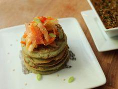 Mung Bean Power Pancakes with Spicy Kimchi: Two Ways - YumUniverse