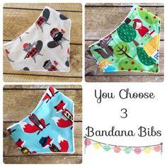 Baby Bandana Bib Set Baby Bib Bandana Bib Baby by SaritaBaby