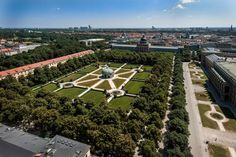 This is the aerial view of Hofgarten,situated in centre of #Munich city. More about Munich at http://www.muenchen.de/?utm_content=bufferd92d6&utm_medium=social&utm_source=pinterest.com&utm_campaign=buffer Image Courtesy: München Tourismus