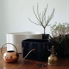 "299 tykkäystä, 4 kommenttia - FinnishDesignShop.com (@finnishdesignshop) Instagramissa: ""Artek Riihitie plant pots, designed by Aino Aalto for their family's home in Helsinki, were part of…"""