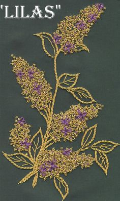 gold, just a touch of purple Wedding Embroidery, Hand Work Embroidery, Types Of Embroidery, Gold Embroidery, Hand Embroidery Designs, Embroidery Applique, Embroidery Stitches, Embroidery Patterns, Machine Embroidery