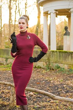 RetroCat wearing a vintage inspired dress