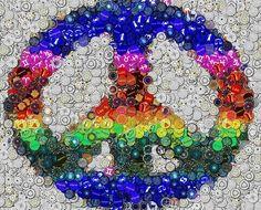 Colorful peace sign via Hippie Peace Freaks on Facebook