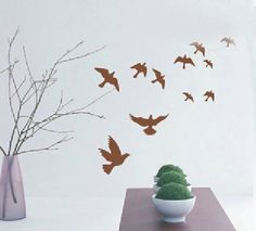 Flying Bird Decor Mural Wall Sticker Decal S101 Various Colors | eBay