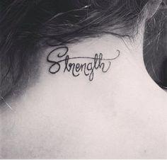 9. #Strength - 44 Dainty and #Feminine Tattoos ... → #Beauty #Beautiful