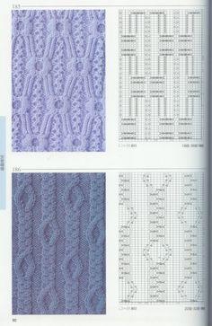 Photo from album Knitting Patterns on Yandex. Knitting Stitches Basic, Cable Knitting Patterns, Knitting Charts, Lace Knitting, Knitting Designs, Knit Patterns, Knitting Projects, Crochet Stitches, Stitch Patterns