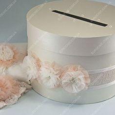 Коробка для денег Нежная персиковая айвори