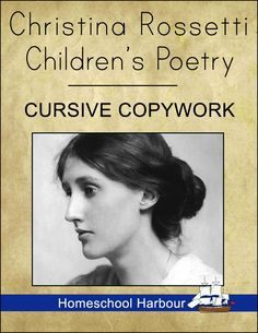 Christina Rossetti Children's Poetry Cursive #Copywork Notebook at #currclick