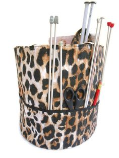 Leopard knitting Bag Round Tote sewing Knitting Project Bag Organzing Bag Knitting Tote Knitters Gift Yarn Bag gift for Mom Nana Project Bag Knitting Project Bag Knitting Tote Knitters Gift Crocheting Bag Yarn Bag animal print bag sexy mama unique gift for a crazy knitting grandmother mothers day 22.50 GBP #goriani