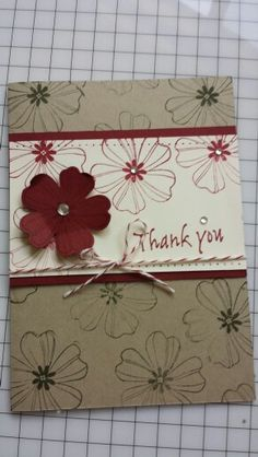 Stampin' Up!, Flower Shop, Birthday, Love, Thank You