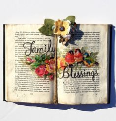 Book lover gifts for her, Country cottage decor,shabby chic decor, rustic decor farmhouse decor Christmas Decor Gift book
