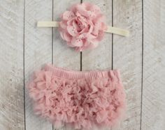 Baby Girl Ruffle Bottom Bloomer & Headband Set in Mauve - Newborn Photo Set - Infant Bloomers - Diaper Cover - Baby Gift - by Couture Flower by coutureflower on Etsy Baby Girl Romper, Cute Baby Girl, Baby Love, Baby Gifts, Baby Shower Gifts, Mauve, Toddler Girl Outfits, Toddler Girls, Bandeau