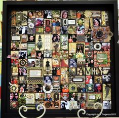 Amazing project using Graphic 45 and Imaginarium Designs Collage Frames, Collage Art, Scrapbooking Layouts, Scrapbook Pages, Family Tree Art, Graphic 45, Mail Art, Texture Art, Have Time