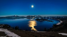 Crater Lake Moonlight  #Oregon #NationalPark  by Mike Ronnebeck
