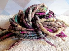 Faerie Spun Dreads - Handmade Felted Wool Double Ended Dread Falls. via Etsy.