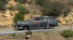 A derelict racing through a desert highway!