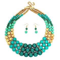 "Turquoise ""Dancing at Night"" Necklace and Earring Set"
