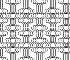 Mingle Black & White - thirdhalfstudios - Spoonflower