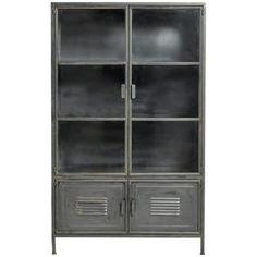WOOOD metalen vitrinekast Ronja zwart 167x99x40,5 cm kopen? Verfraai je huis & tuin met Buffet- & vitrinekasten van KARWEI