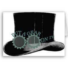 Steampunk card by www.zazzle.com/artinspired*