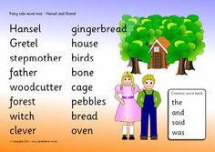 Hansel and Gretel word mat (SB4120) - SparkleBox