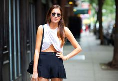 croptop & flutter shorts