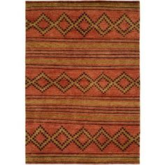 Uniquely casual - this Torri Hand-Knotted Wool Terracotta Area Rug combines tribal and Southwestern patterns in a combination of rustic and fashionable colors and motifs. Stylish with a rugged appeal, each rug is hand-knotted from premium hand-spun wool. Orange Area Rug, Navy Blue Area Rug, Beige Area Rugs, Lounge Rug, Rug Studio, Navajo Rugs, Contemporary Area Rugs, Cool Rugs, Terracotta