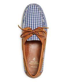 Men's Gingham Boat Shoes