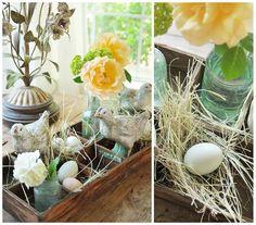 rusztikus húsvéti dekoráció