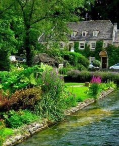 Bibury, Gloucestershire, England by elvia
