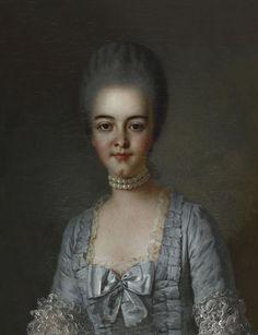 MADAME LA PRINCESSE DE CONDÉ BATHILDE D'ORLÉANS (1750-1822), second half 18th century, French school