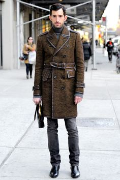 Fashion god, David Thielebeule. I think this trench is Burberry from 2010.