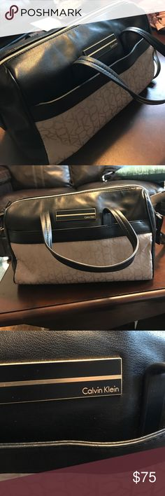 FINAL PRICE Calvin Klein Satchel Bag Beautiful Calvin Klein satchel bag! Super roomy, handles as well as a shoulder strap. There are a few loose strands on the inside where it says Calvin Klein. Super cute!! Calvin Klein Bags Satchels