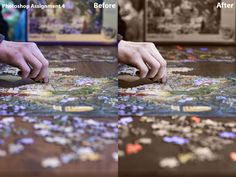 Photoshop Lesson 4 Assignment, to colorize a photo. Thought it would be fun to take a photo of Sam doing a puzzle and make it pop