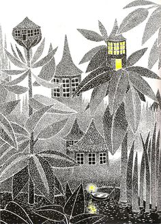 Tove Jansson - the Moomins author and illustrator - beautiful #vintage #illustration