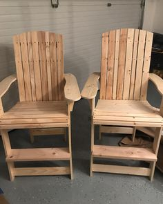 I Decided To Build Some Adirondack Style Chairs For My Deck. Went Tall So  The Deck Rail Didnu0027t Block My Views