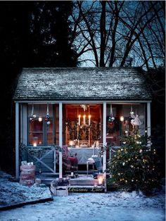 Susie Watson Designs: A Fairytale Christmas Magical Christmas, Rustic Christmas, Winter Christmas, Christmas Home, Winter Snow, Christmas Garden, Beautiful Christmas, Indoor Outdoor, Outdoor Gazebos