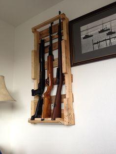 Pallet gun rack..