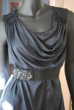 BCBG MAXAZRIA Draped Gown Dress Dark Navy Size 4 | eBay