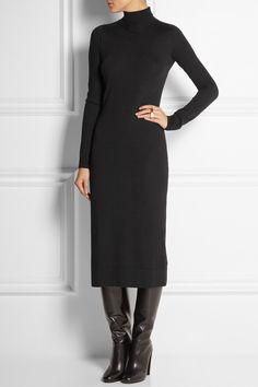 Agnona Turtleneck cashmere and silk-blend sweater dress NET-A-PORTER.COM