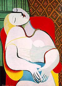 Le Reve by Picasso, oil on canvas, 1932