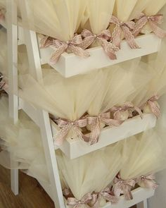 A package of 80 wedding favors with tulle, saten bow with lace and a pearl. The bomboniere contains 5 sugar almond dragees - koufeta to treat your guest. Wedding Favors, Party Favors, Wedding Gifts, Wedding Decorations, Boho Wedding, Wedding Engagement, Dream Wedding, Creative Gift Wrapping, Creative Gifts