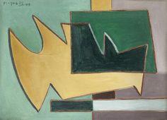Alberto Magnelli (Italian, 1888-1971) Composition (Painted in Paris in 1948)